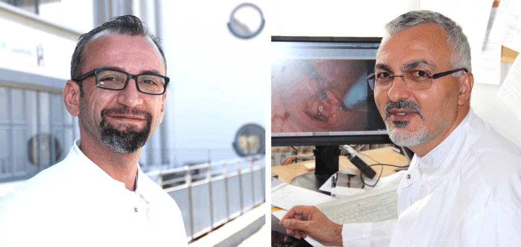 Dr. Tawfik Mosa, Chefarzt der Klinik für Allgemein- und Viszeralchirurgie [Foto rechts] und Oberarzt Abdulaziz M. Ali
