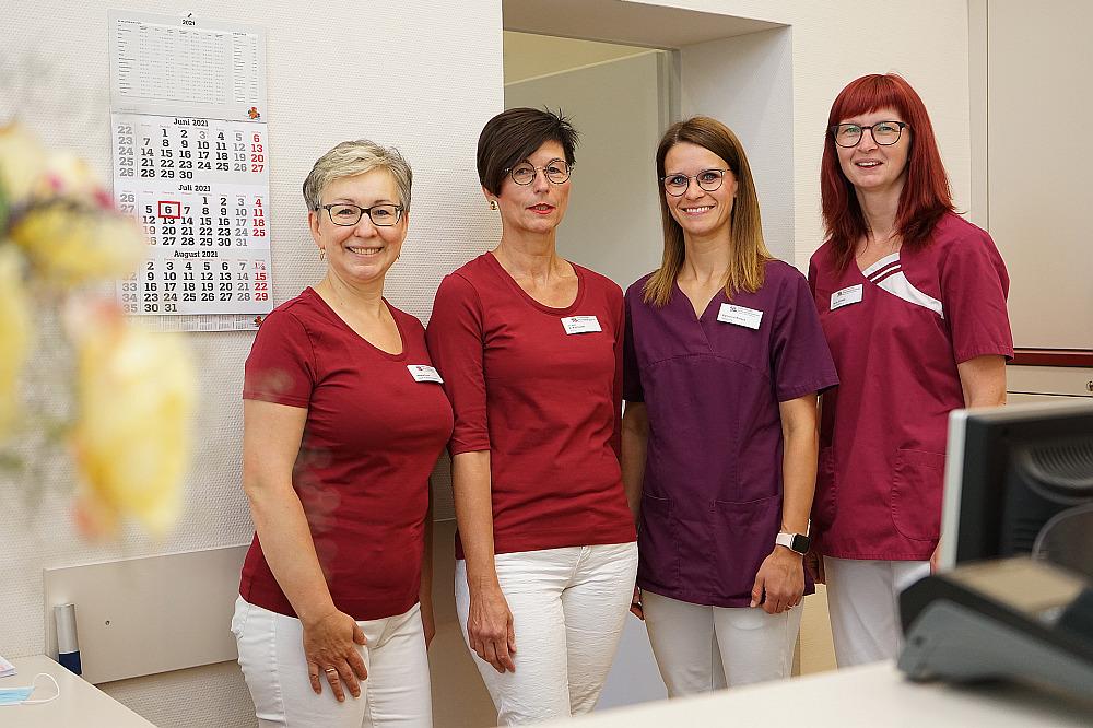 Das Team der MVZ-Frauenarztpraxis im Säulenhaus Merseburg